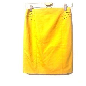 Express mustard color high waisted pencil skirt.